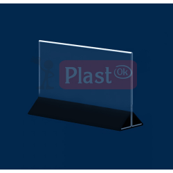 Горизонтальний тейбл тент 1/3 А4 з кольоровою подставкою