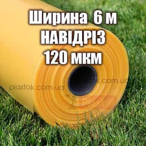 Теплична плівка НАВІДРІЗ (ширина 6м) 120мкм  4-х сезонна за м2