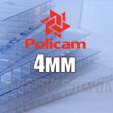 Лист стільникового полікарбонату прозорого (POLICAM), 4 мм