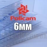 Лист стільникового полікарбонату прозорого  (POLICAM), 6 мм