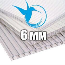 Лист стільникового полікарбонату прозорого (KOLIBRI), 6 мм
