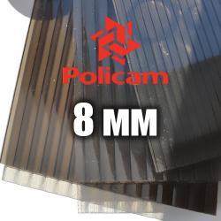 Лист бронзового стільникового полікарбонату 2.1х6м (POLICAM), 8мм