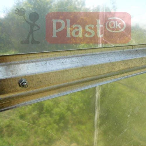 Каркас теплиці під плівку підсилений 3х10х2,1м