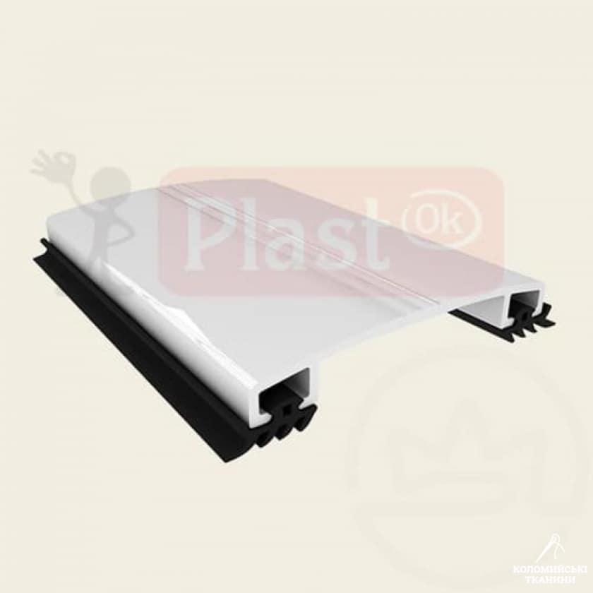 Алюмінієвий профіль прижимна кришка декор (АПКД) -  50мм, 6м