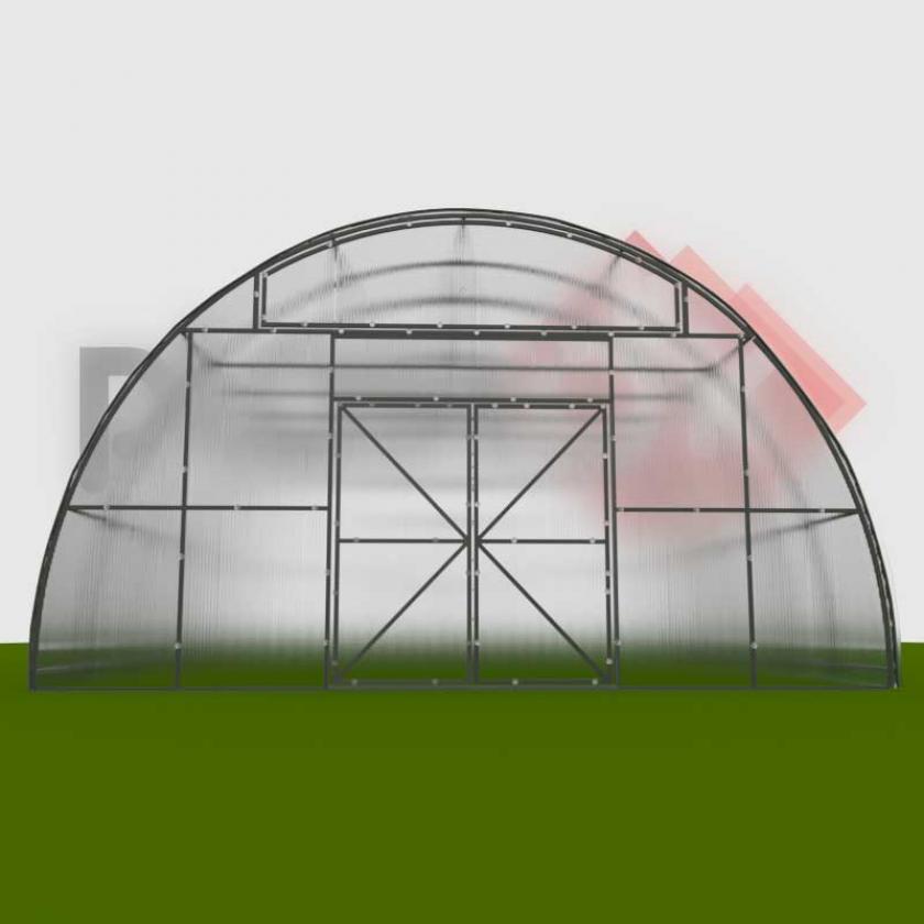 Фермерська теплиця 6х8х3.5м ФЕРМА-3500 (під полікарбонат)