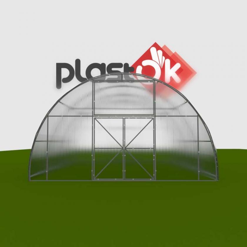 Фермерська теплиця 6х8х3.4м Ferma-ALU(40x40)