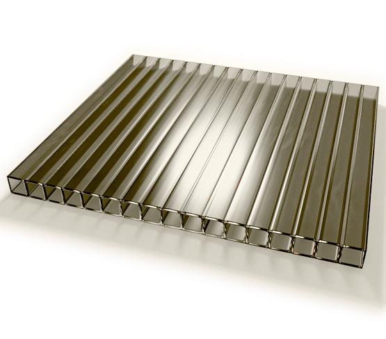 Лист бронзового стільникового полікарбонату (IZOPOL), 6мм