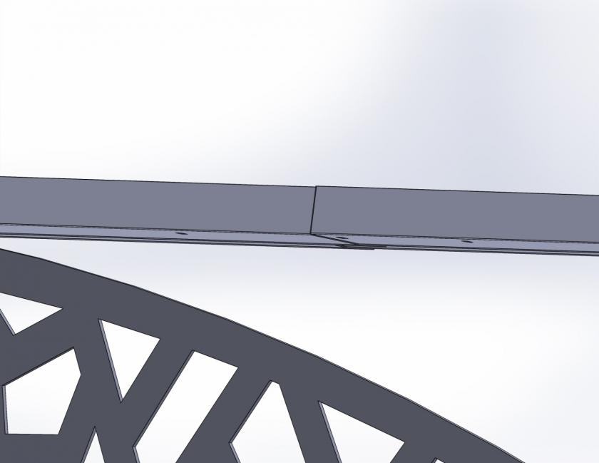 Готовий дашок 3,05x1,5м з монолітного полікарбонату 3мм