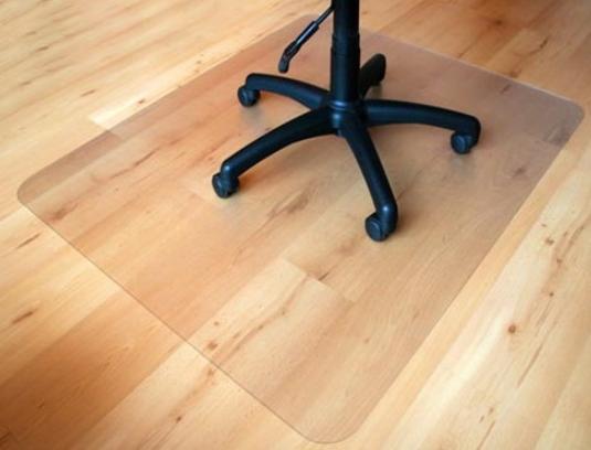 Захисний підлоговий килимок під крісло 1,0 мм 1000*1250мм прозорий
