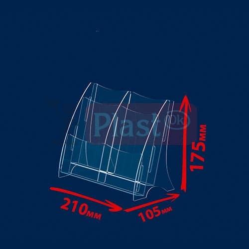Підставка на 4 кишені під єврофлаєр «Економ»