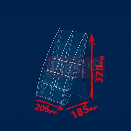 Буклетница на 2 відділення під єврофлаєр і одну кишеню формату А4