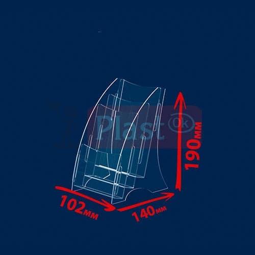 Підставка на 3 кишені під єврофлаєра «Економ»