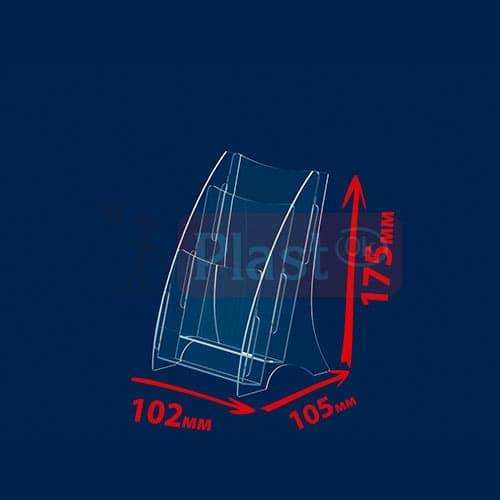 Настільна підставка під флаєра на 2 кишені «Економ»