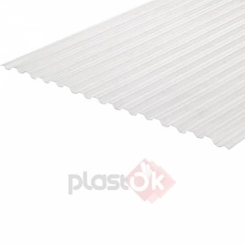 Профільований монолітний полікарбонат (6м х 1.05м) прозорий