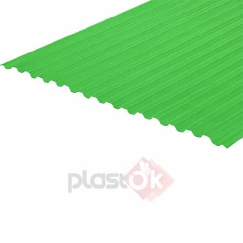 Профільований монолітний полікарбонат (6м х 1.05м) зелений