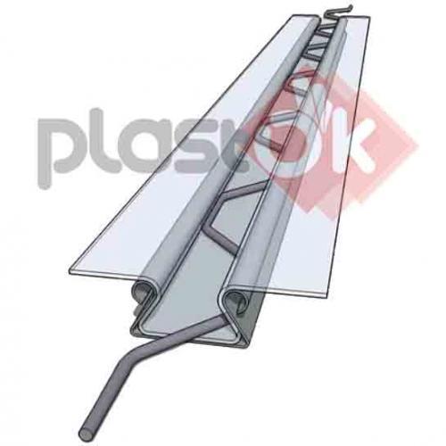Кріплення тепличне для плівки, кліпса зиг-заг 0,55 мм, профіль оцинкований