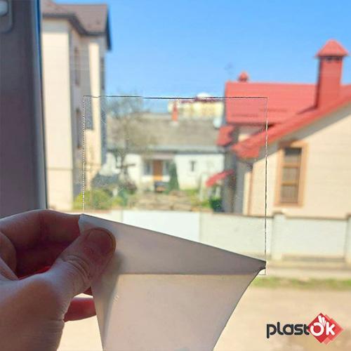 Лист прозорого монолітного полікарбонату 2.05х3.05м (SOTON), 3мм