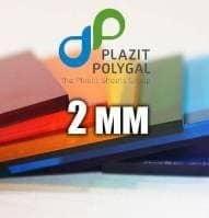 Лист прозорого монолітного полікарбонату 2.05х3.05м (MONOGAL), 2мм