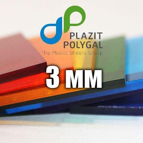 Лист прозорого монолітного полікарбонату 2.05х3.05м (MONOGAL), 3мм